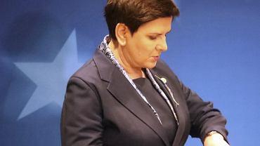Premier Beata Szydło na szczycie w Brukseli