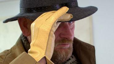 Piękne skórzane rękawiczki w kolorze kości słoniowej kupiłem za trzy złote