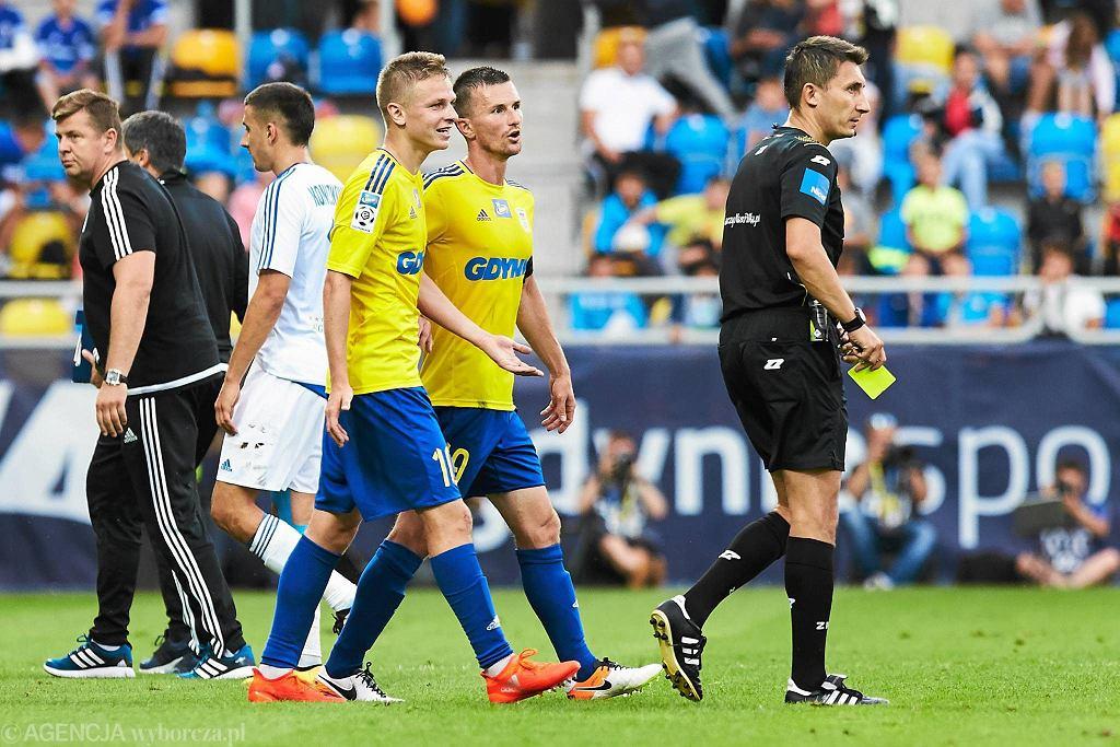 Arka Gdynia - Ruch Chorzów (3:0). Mateusz Szwoch i Miroslav Bożok