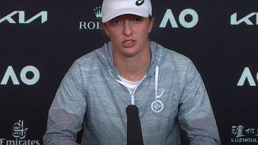 Konferencja prasowa Igi Świątek w trakcie Australian Open