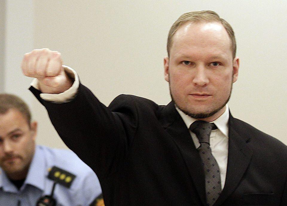 Anders Breivik przed ogłoszeniem wyroku