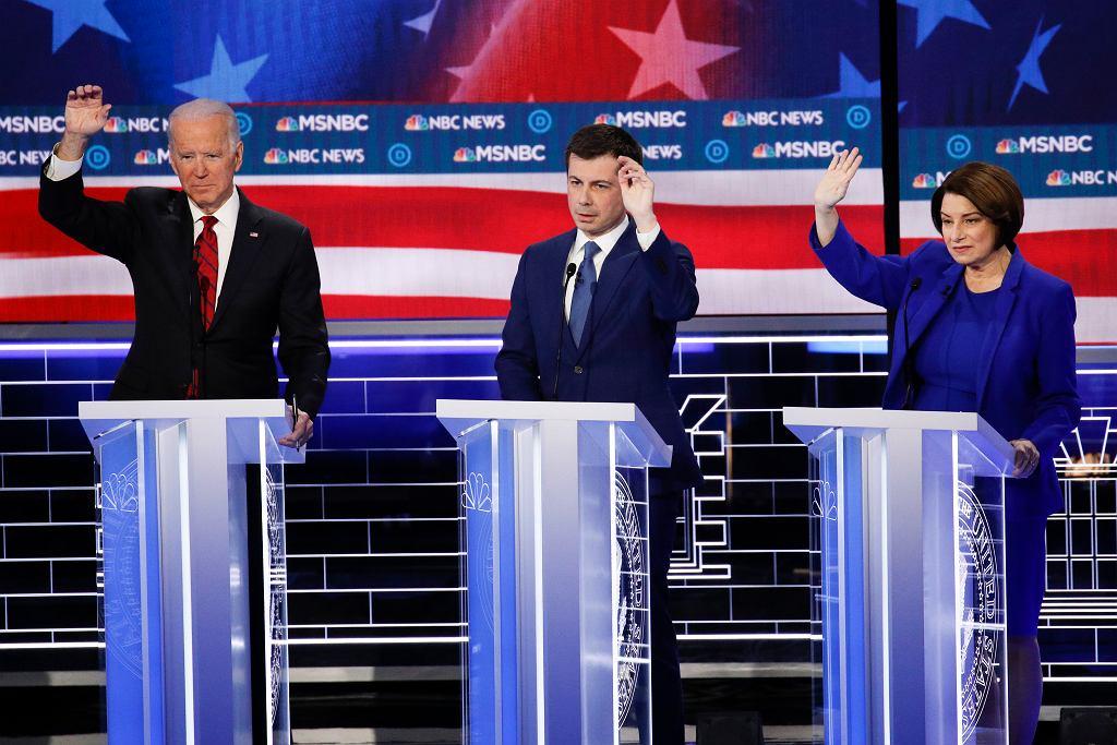 Joe Biden, Pete Buttigieg i Amy Klobuchar