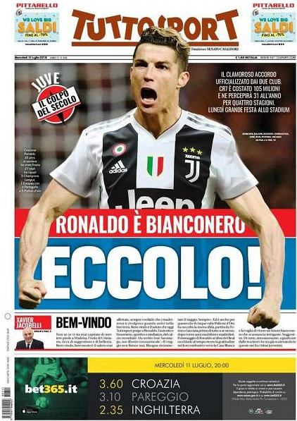 Ronaldo w Juventusie. Tuttosport