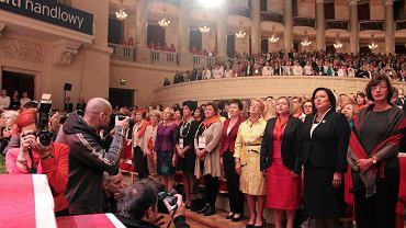 Magdalena Środa, Hanna Gronkiewicz - Waltz, Henryka Bochniarz, Wanda Nowicka i Anna Komorowska na Kongresie Kobiet