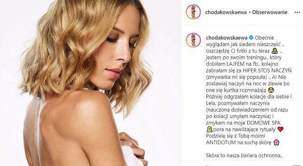 Ewa Chodakowska o suchej skórze