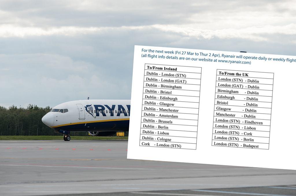 Rozkład lotów Ryanaira to teraz zaledwie 17 tras