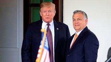 Premier Węgier Viktor Orban z wizytą u prezydenta USA Donalda Trumpa w Białym Domu, 13 maja 2019.