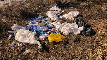 Poznań. Leśniczy znalazł odpady medyczne, w tym strzykawki, rękawiczki i kombinezony. Znalazł się właściciel