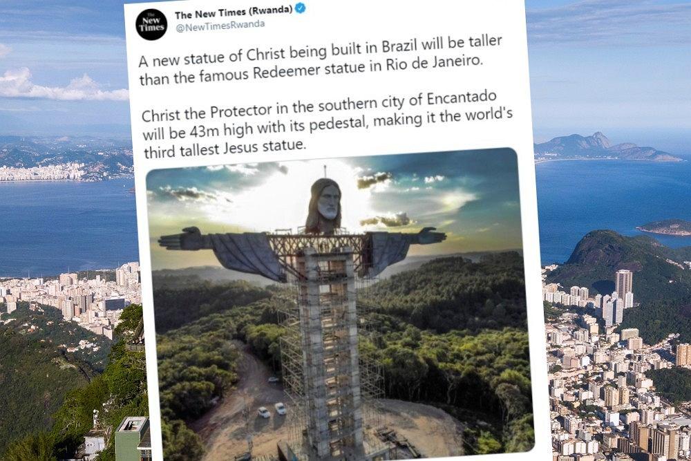 Chrystus z Encantado będzie wyższy niż ten z Rio de Janeiro