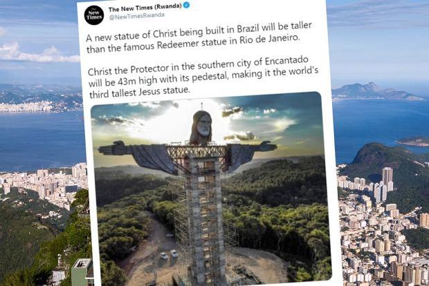 Nowy posąg Chrystusa w Brazylii wyższy niż ten w Rio. Ale świebodzińskiego i tak nie przebije