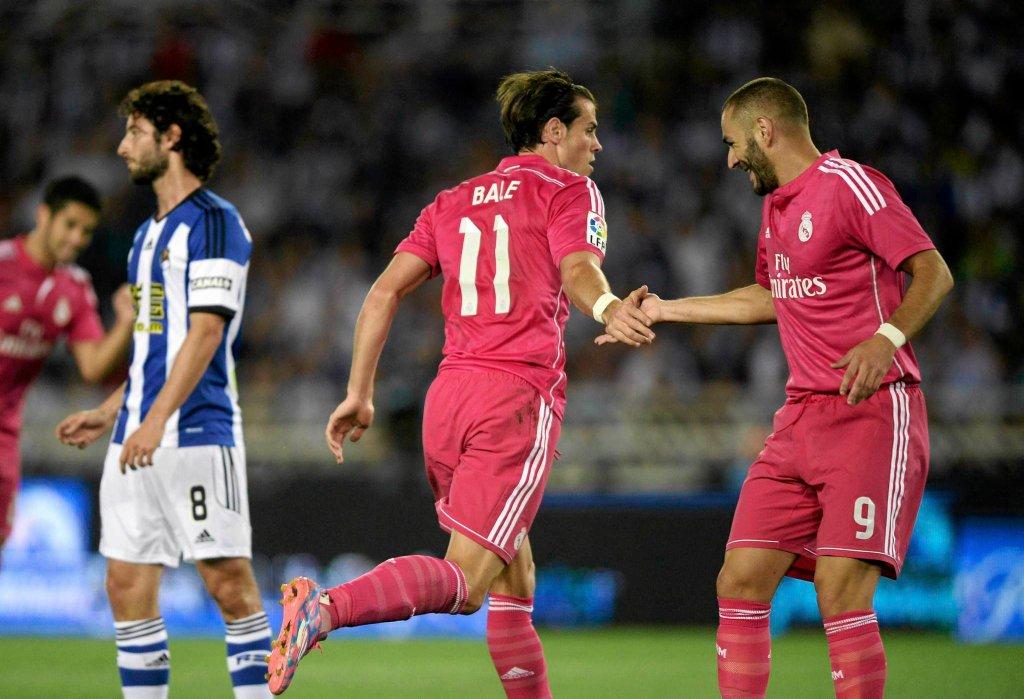 Real Sociedad - Real Madryt. Gareth Bale i Karim Benzema