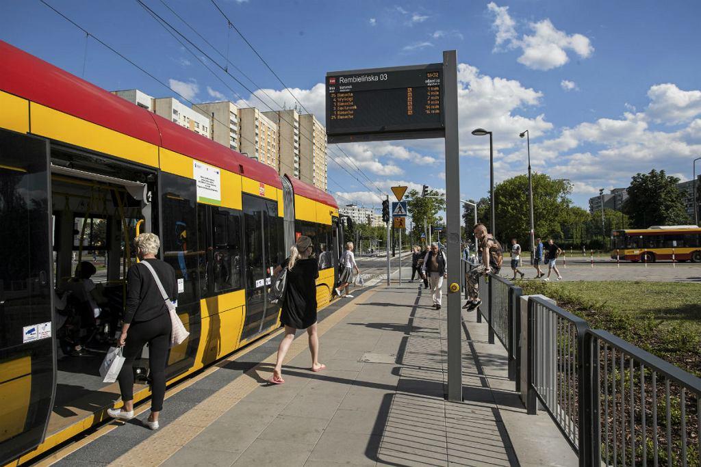 ul. Rembielińska, wyremontowana trasa tramwajowa na Bródnie