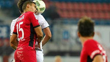 Aleksandar Sedlar w meczu Piast Gliwice - Śląsk Wrocław 1:1