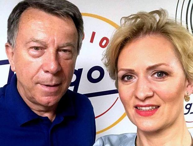 Wojciech Gąssowski i Anna Stachowska w studiu Radia Pogoda!