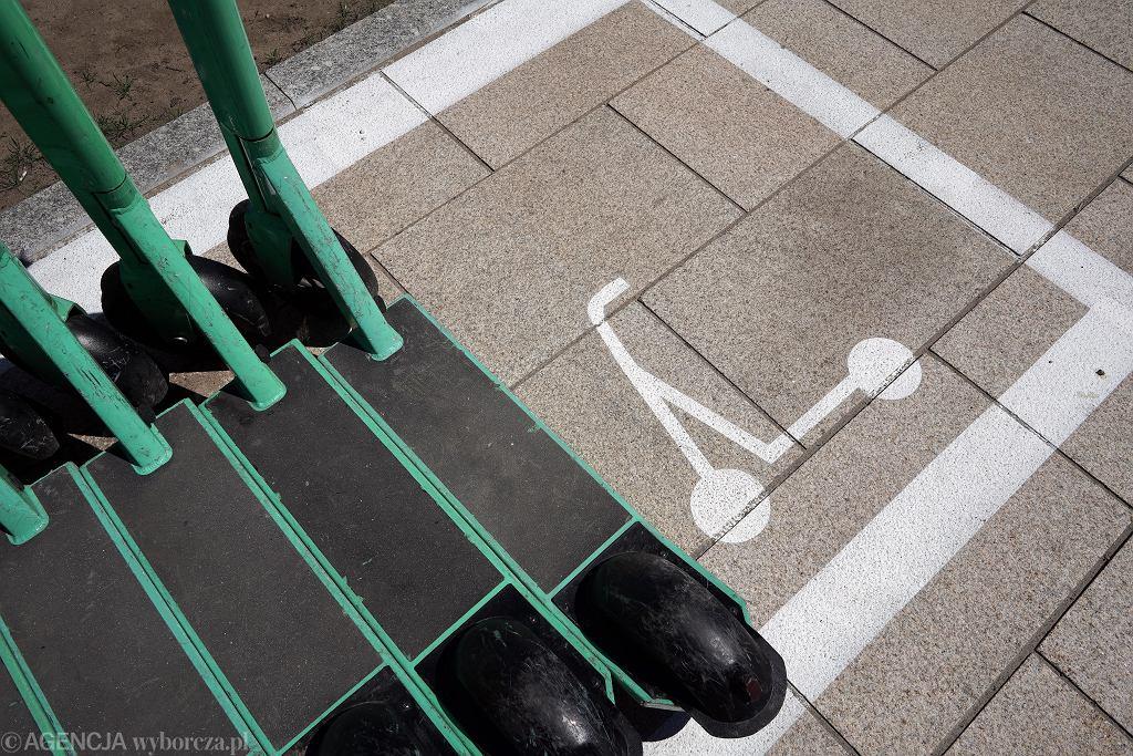 Parking dla hulajnóg elektrycznych