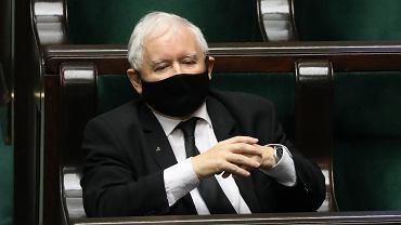 Prezes PIS-u Jarosław Kaczyński w Sejmie.