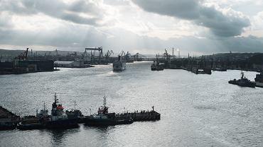 Port morski w Gdyni.