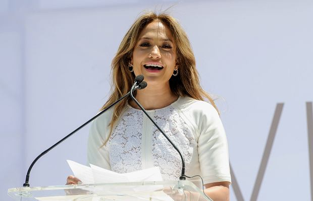 """Singer- actress Jennifer Lopez speaks at the """"Viva Movil by Jennifer Lopez"""" flagship store grand opening in the Brooklyn borough of New York on Friday, July 26, 2013. (Photo by Evan Agostini/Invision/AP)"""
