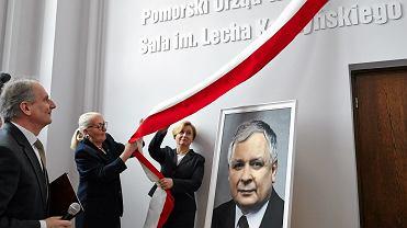 Sala im. Lecha Kaczyńskiego w Pomorskim Urzędzie Wojewódzkim