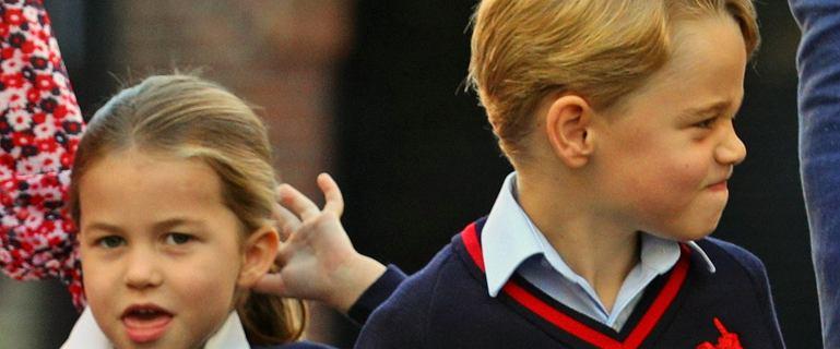 Nowe zdjęcie George'a i Charlotte. Chłopiec sięga już niemal do ramienia ojca!