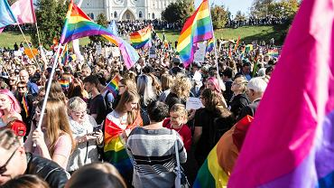 Marsz równości w Lublinie, 13 października 2018.