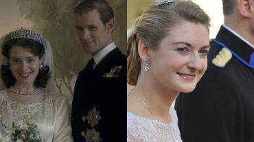 """Kadr z filmu """"The Crown"""", ślub księżnej Stefani"""