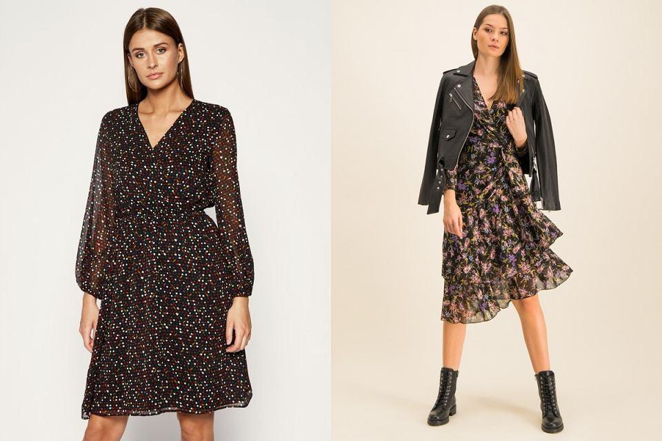 Sukienki w modne wzory, które sprawdzą się do zamszowych botków