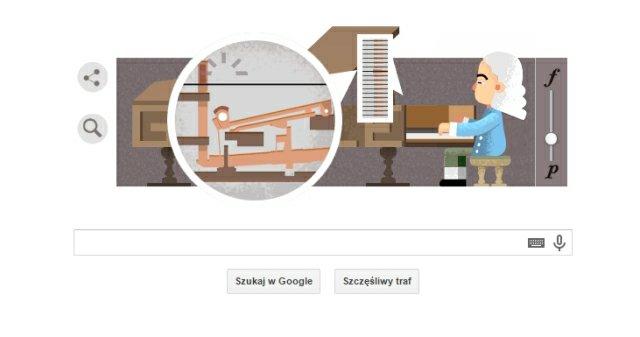 Google Doodle z Bartolomeo Cristofori