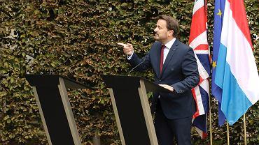 Konferencja prasowa premierów Luksemburga i Wielkiej Brytanii. Boris Johnson nie wziął w niej udziału