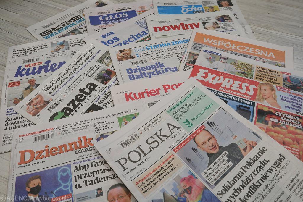 Gazety Polska Press wykupionego przez Orlen (zdjęcie ilustracyjne)