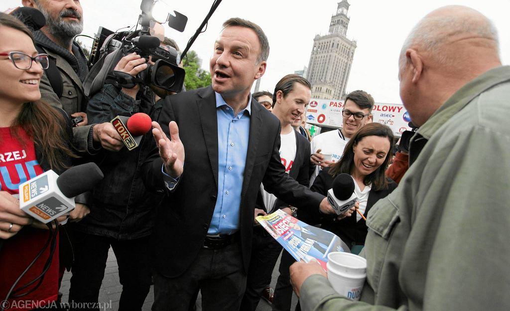 Andrzej Duda w centrum Warszawy