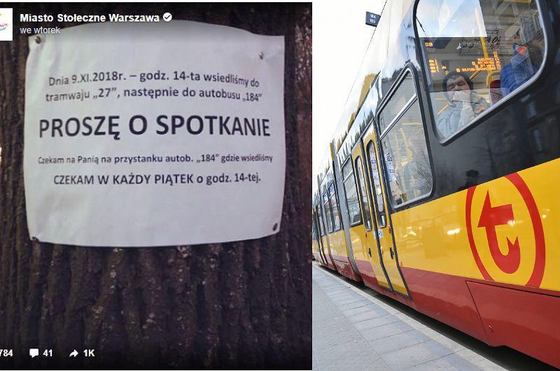 Spotkał w tramwaju kobietę i się zakochał. Wywiesił ogłoszenie: ''Czekam w każdy piątek''