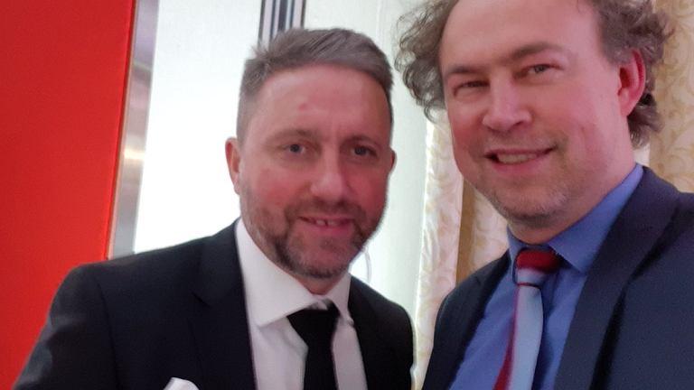 Selekcjoner Jerzy Brzęczek i dziennikarz Michał Pol