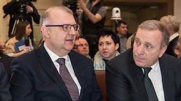 Kazimierz Michał Ujazdowski i Grzegorz Schetyna, 7 kwietnia 2018.