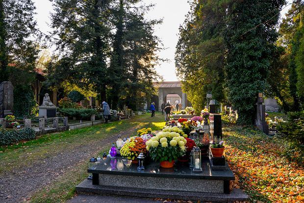 Zdjęcie numer 19 w galerii - 1 listopada w Bielsku-Białej. Kwiaty, wieńce i znicze na grobach [ZDJĘCIA]