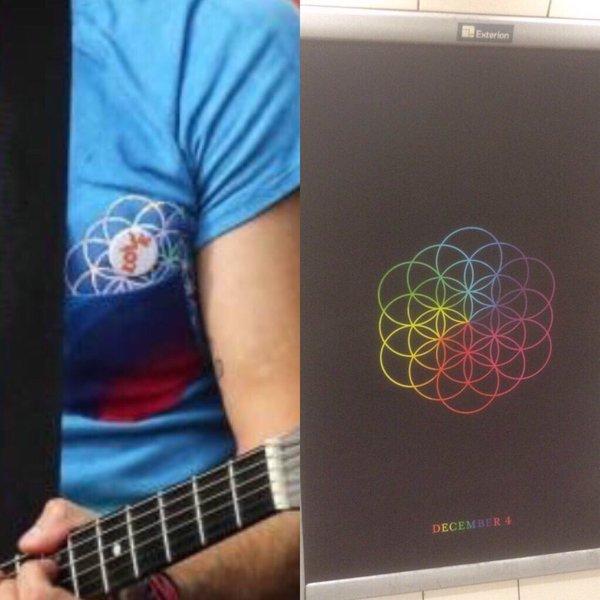 Grafika w londyńskim metrze wzbudziła wśród fanów Coldplay spore poruszenie.
