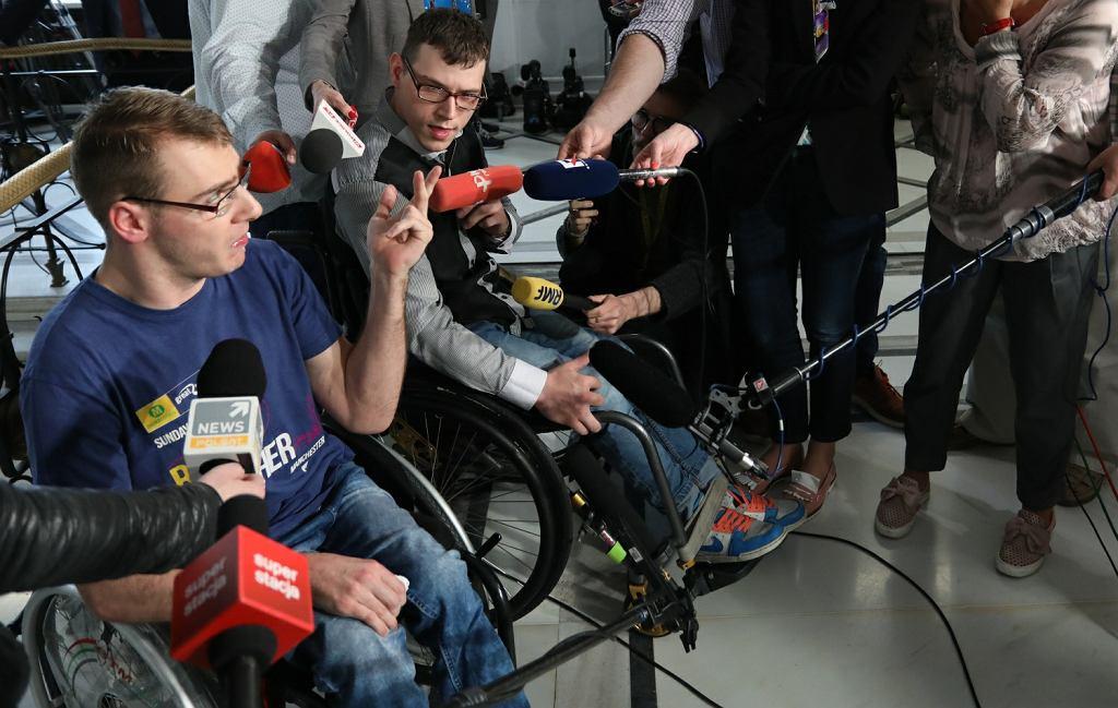 Niepełnosprawni protestują w Sejmie. W końcu zabrali głos