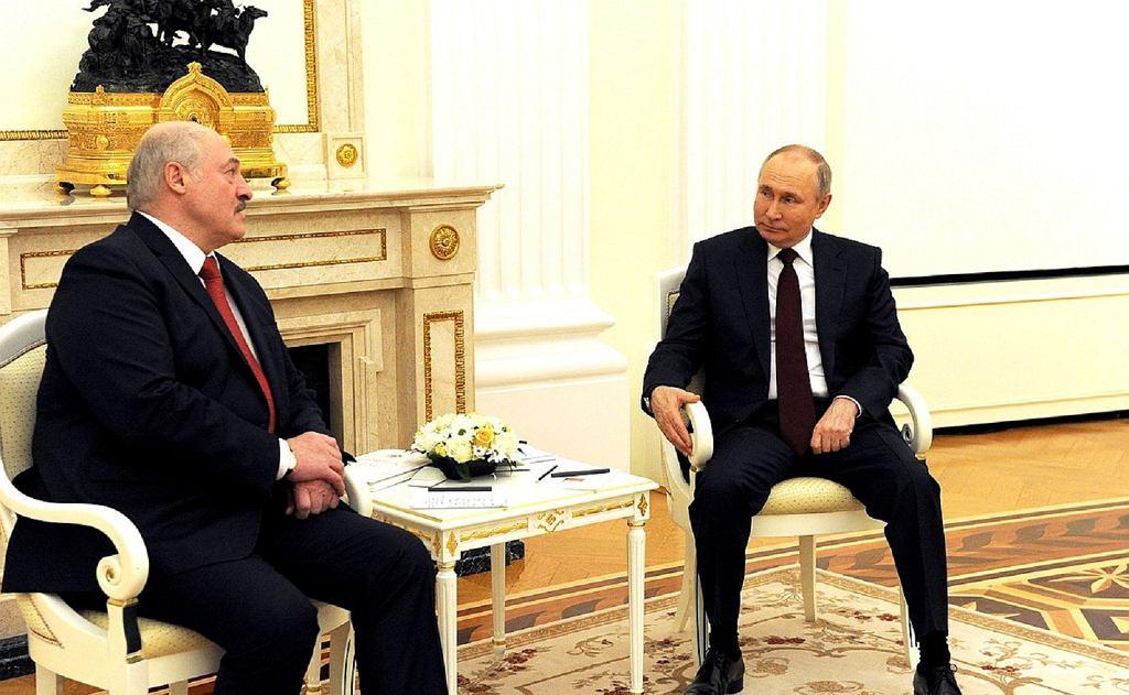 Alaksandr Łukaszenka, Władimir Putin. 22.04.2021 r.