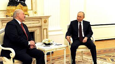 Alexander Lukashenka, Vladimir Putin.  22.04.2021