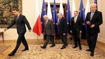 21.05.2015 Warszawa. Spotkanie byłych ministrów spraw zagranicznych.
