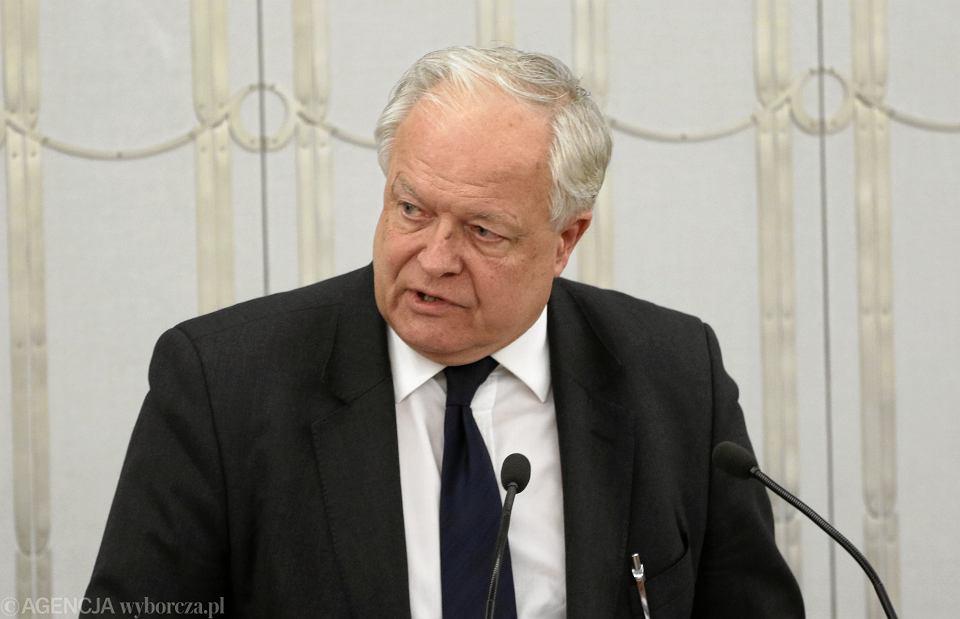 Stanisław Zabłocki, prezes Sądu Najwyższego, podczas debaty nad ustawą o Sądzie Najwyższym w Senacie, 14.12.2017 r.