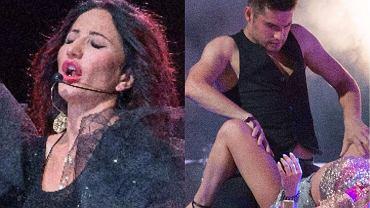 11 sierpnia w Nowym Sączu Justyna Steczkowska dała 'Cygański koncert'. Piosenkarka zafundowała swoim słuchaczom naprawdę ostre show. Na scenie nie brakowało pikantnych momentów: tancerze symulowali seks, zmysłowo łapali gwiazdę za nogi, a ona prężyła się w łóżku. Słowa jednak nie oddadzą tych emocji, jakie widać na zdjęciach. Sceny są bardzo gorące, mamy jednak wątpliwość, czy nie nazbyt śmiałe, jak na widowisko NIE opatrzone znakiem +18?