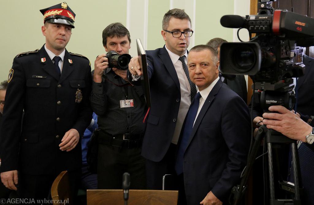 Prezes NIK Marian Banaś podczas posiedzenia sejmowej komisji kontroli państwowej, 26 listopada 2019.