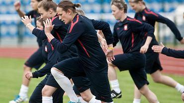 Trening piłkarskiej reprezentacji kobiet