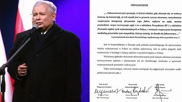Jarosław Kaczyński/oświadczenie sędziów