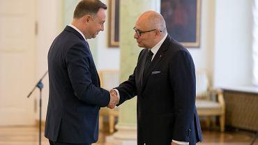 Prezydent Andrzej Duda przyjął ślubowanie od sędziego TK Justyna Piskorskiego