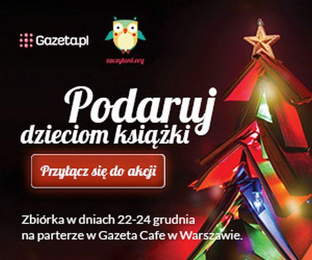 Książki zbierać będziemy w dniach 22-24 grudnia w siedzibie Gazeta.pl przy ul. Czerskiej 8/10 w Gazeta Cafe na przeciwko głównego wejścia