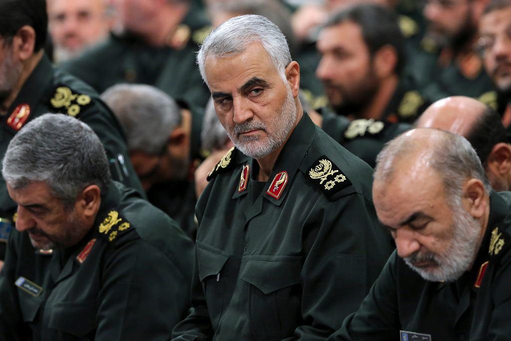 Generał Kassem Sulejmani, dowódca elitarnej irańskiej jednostki Al Kuds w Korpusie Strażników Rewolucji Islamskiej