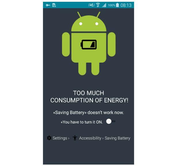 Informacja o rzekomym zbyt dużym zużyciu energii