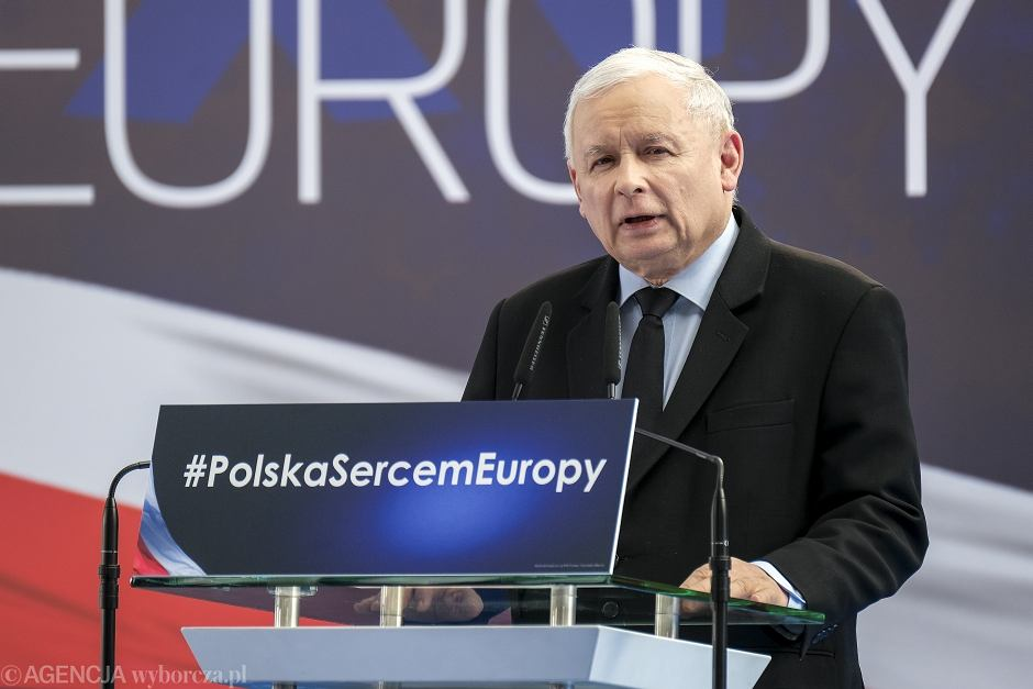 Jarosław Kaczyński na konwencji w Rzeszowie